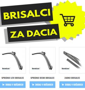 Dacia Sandero Brisalci (Metlice Brisalcev) + Zadnji Brisalec